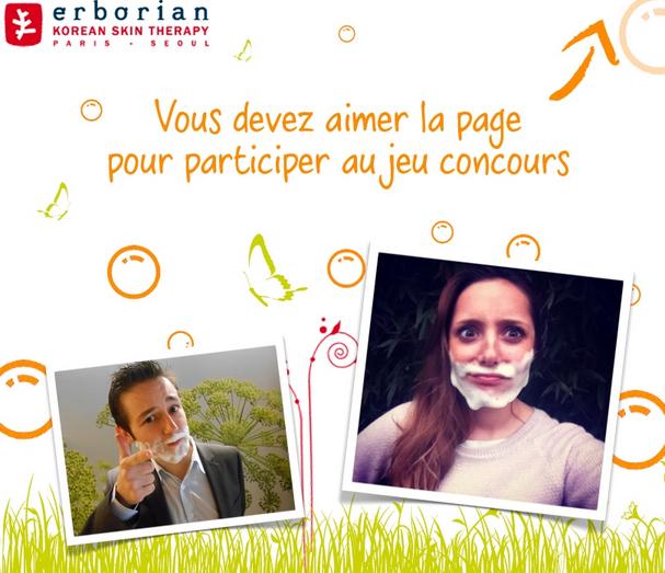 page facebook d'Erborian